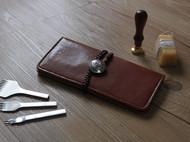 手作旅途 植鞣 手工 长款钱包