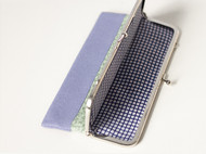 漫与手工:原创长款布艺钱包 手拿包 票据夹子 定制蕾丝 香芋青枝