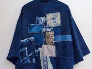 彰施|草木染拼接和服外套短款(定制)