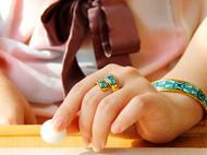 【摩登仰韶】冰蓝系列珐琅彩戒指