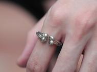 偶屿925银骨力戒指