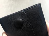 原创手工黑色软植鞣牛皮革摔纹简约大容量长夹手包钱包