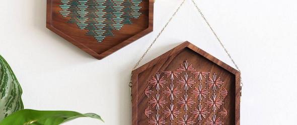 木板上的刺绣 | 刺绣设计师 Sara Pastrana 的独特刺绣木板装饰画