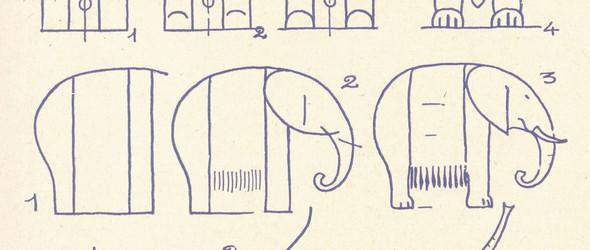 """大象简笔画——Les Eléphants """"Modernes"""""""