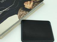 【DIY已打斩皮革材料包】黑色意大利植鞣革头层牛皮简约卡包