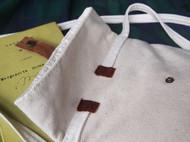 原素时光 回归自然 纯棉帆布下跨包拼牛皮