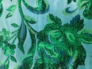 DIY一条Vintage复古风格织锦提花缎丝绒腰带
