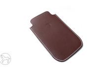 褐色美国半植鞣革iphone 6 plus 手机保护套