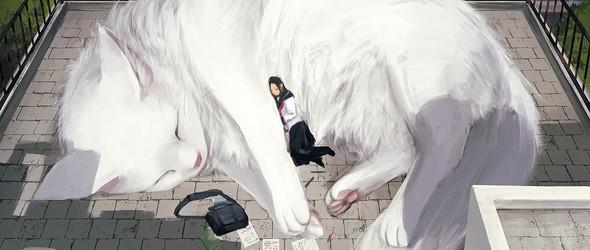 もの久保 | 这位日本插画大神将动物画大了百倍,让孤独的内心找到温暖的依靠