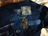 蓝染外套的拼接
