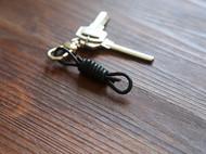 牛皮绳结绳钥匙扣 趣味小物