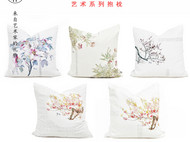 川朴原创艺术设计植物花卉家居抱枕