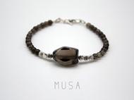MUSA 不规则茶晶手链  细手链