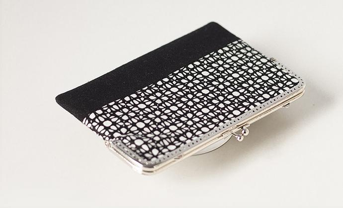 漫与手工:原创长款布艺钱包 手拿斜跨包 票据夹子 定制 雅致黑白