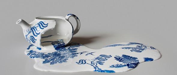 碎了一地但依然美丽的陶瓷 | 艺术家 Livia Marin 创作的陶瓷雕塑