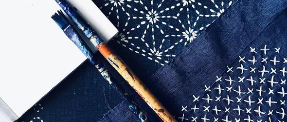 靛蓝,刺子绣与手绘,我们要和谐的在一起  |  Hansika Sharma