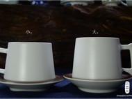 匠器家 无光白 咖啡杯 套装 杯子礼品 新年