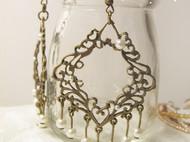 原创手工 宫廷华丽珍珠古铜耳饰 长裙必搭单品 shadowyiu手工品