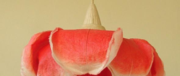 日本手工职人 村松さちえ 手工制作的和纸灯罩