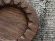 良造木器 黑胡桃8吋盘 占星纹餐盘