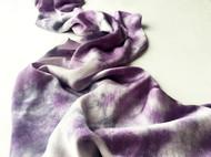 三两枝草木染丝巾——晚风