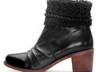Wanmo萬陌 真皮编织英伦优雅靴子