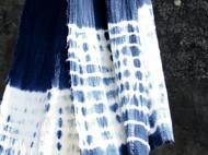 南山草木染原创自制天然文艺风棉麻扎染男女士长款围巾