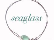 【原创设计】天然海玻璃手工贝壳银项链