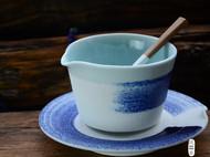 匠器家包邮 景德镇 手工陶瓷喝水杯子 手绘创意喝水咖啡杯-青墨