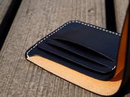 白馬手造 钱包 短夹 手染黑色