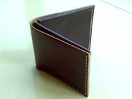【单一】monster-66手缝油腊牛皮简约中性短夹钱包