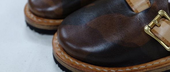 皮革儿童拖鞋制作过程