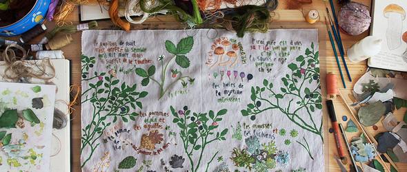 对于自然,始终温柔以待 - 俄罗斯艺术家 Olga Ezova-Denisova 清新自然的布艺