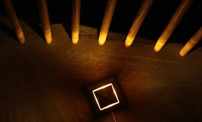 觅见生活丨小夜灯 木质金字塔氛围灯