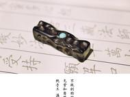 原创手工紫光檀木项链吊坠文艺中国风男女礼物饰品
