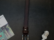 尚古仓原创设计窄版褐色简约皮带