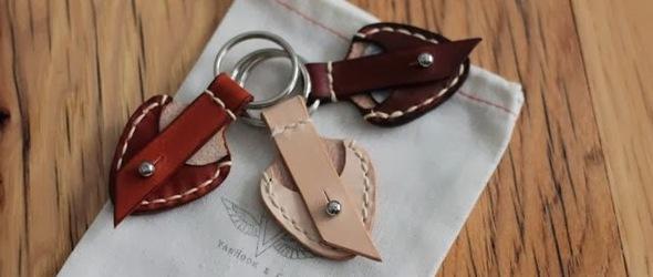 手工皮革赞设计 - 皮革拨片袋,可以做硬币袋,还可以做钥匙扣