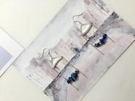 入口/ENTRANCE独立设计天然青金石925银防过敏 流苏手工耳环
