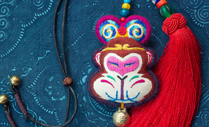 【大圣】原创纯手工刺绣车挂包挂汽车内饰挂件孙悟空猴年生肖文艺