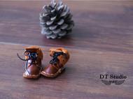 手工小皮鞋皮靴挂件 钥匙扣 项链坠 趣味挂坠