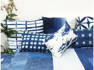 力卜自制原创大理白族扎染草木染植物染蓝染家居沙发套抱枕靠枕