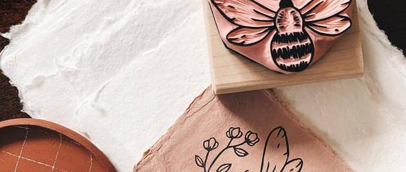 简单可爱的橡皮章印章 | Laura Hatfield