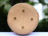 植鞣革原色水桶包