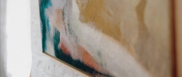 半抽象的湿毡气候与风景画 |Valérie Wartelle