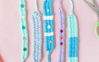 """人人都可以学会的""""吸管""""编织手链教程"""