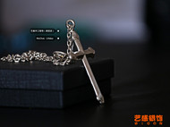 goro's太角链十字架项链吊坠