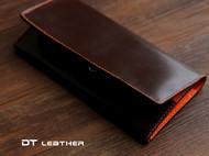 棕色马缰革拉链长夹