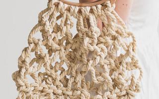 DIY麻绳流苏袋