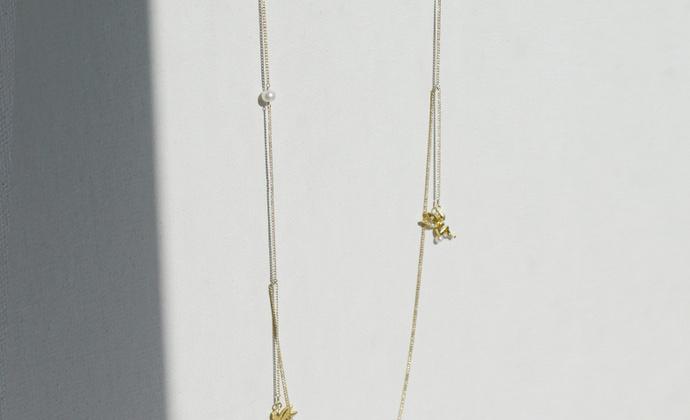 MQ奎妮小姐 许愿精灵天然珍珠长链/项链