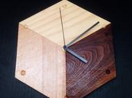 立方体挂钟-松木榉木黑胡桃拼色-iDo手工实验室